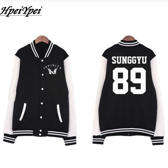 Aliexpress.com : Buy Kpop infinite logo member name printing black ...