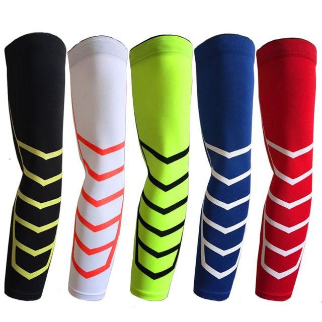 ef3108e7f7 1 Pcs Compression Arm Sleeves Cycling Sun Protective Armbands Elastic  Spandex Arm Warmer Unisex Bike Basketball