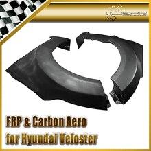Автомобиль стайлинг Для Hyundai Veloster АРМИРОВАННЫХ Стекловолокном Lordpower Широкий Корпус Переднее Крыло (Нужно широкий Передний Бампер)