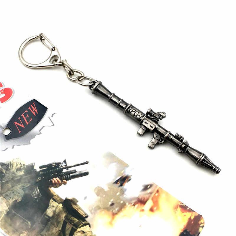 2019 novo pubg quente jogos online cruz fogo ak47 modelo chaveiro atacado legal arma de metal chaveiro pingente de jóias masculinas