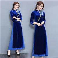 2017 Spring And Autumn Cheongsam Dress Chinese Traditional Dress Vietnam Ao Dai