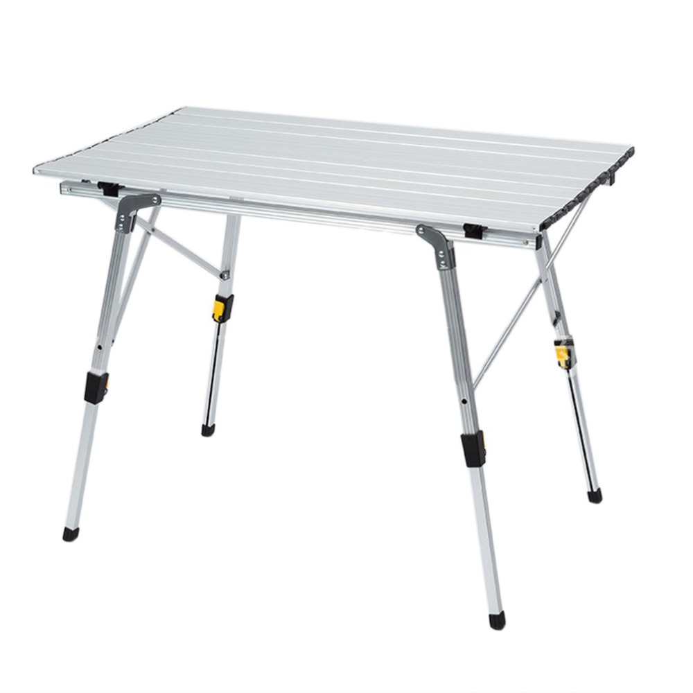 купить Ship from RU Portable Camping Table Outdoor Golden Aluminium Alloy Foldable Folding Picnic Table Ultralight Mesa Plegable Picnic по цене 5058.46 рублей