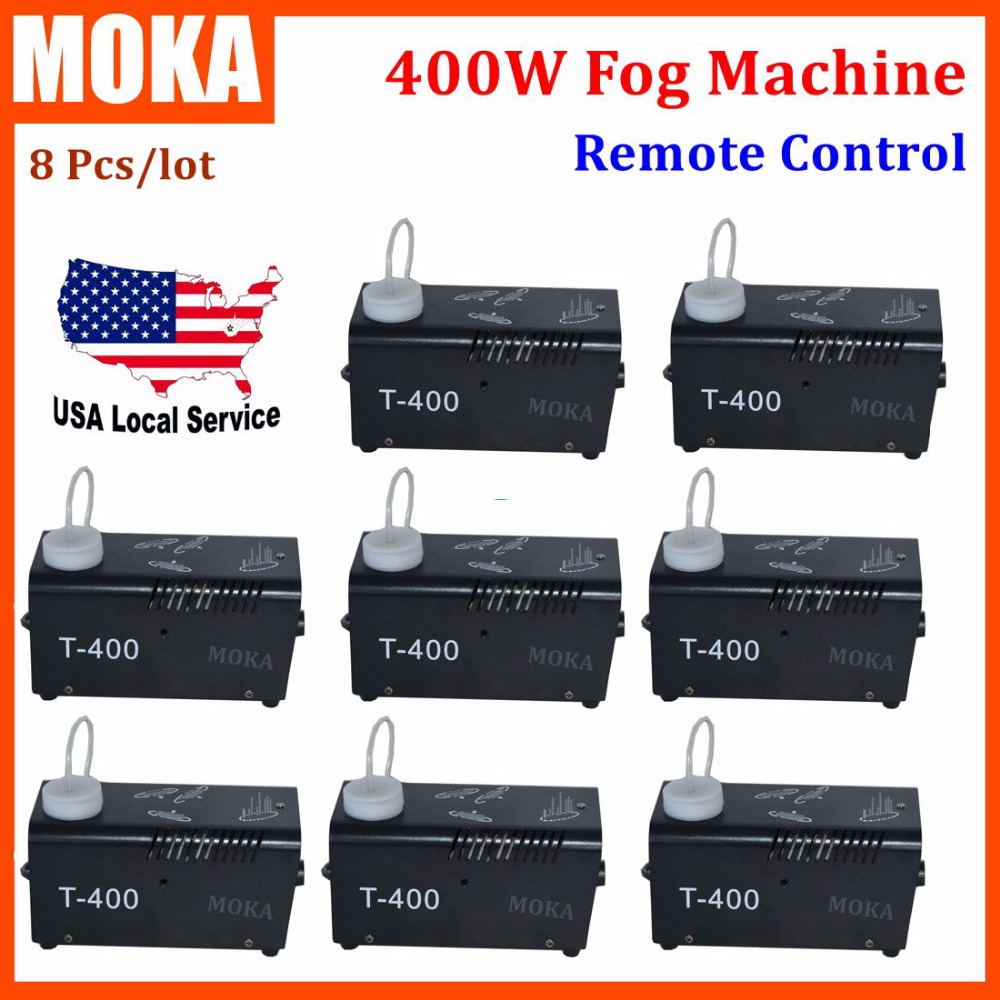 8 Pcs/lot Stage Effect fx Remote Control fog machine fogger projector 400w upward smoke machine Stage Lighting fog maker