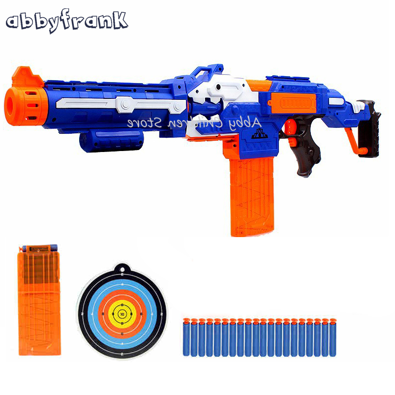 Abbyfrank Electrical Soft Bullet Toy Gun Pistol Sniper Rifle Plastic Gun Arme Arma Toys For Children Gift cross fire toy gun barrett sniper rifle capable of firing bullets soft bullet gun and there are children s toys flash sound gun