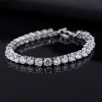 Cubic Zirconia Tennis Bracelets Iced Out Chain Crystal Wedding Bracelet