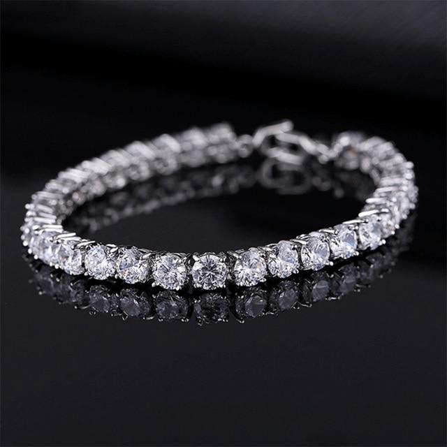 Cubic Zirconia Tennis Bracelets Iced Out Chain Crystal Wedding Bracelet