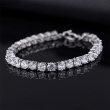 Luxury 4mm Cubic Zirconia Tennis Bracelets Iced Out Chain Crystal Wedding Bracelet For