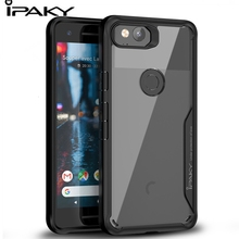 IPAKY For Google Pixel 2 XL Case Anti knock Shockproof Protective Silicone Cover Transparent Original