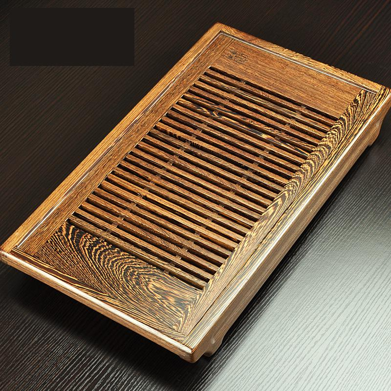Free Shipping Big small Chinese Wenge Solid wood tea tray Kung Fu Tea Storage tray gongfu
