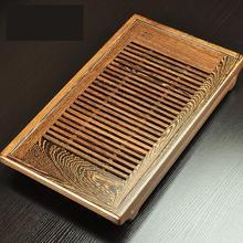 Kostenloser Versand Big kleine Chinesische Wenge massivholz teetablett Fu Tee ablage gongfu Tee tisch untertasse Holz tee meer