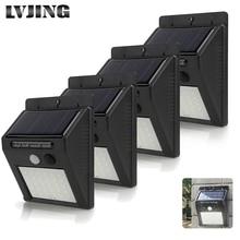 LVJING 1pcs 2pcs 4pcs 30 Leds PIR Motion Sensor Wireless Solar Lamp Ou