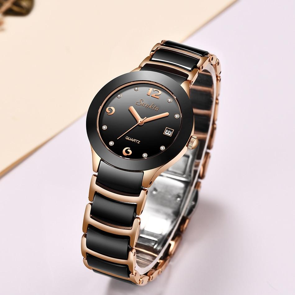 relógio de pulso feminino shengke