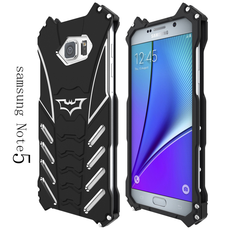 separation shoes 66a02 7539d US $20.0 |R JUST For samsung galaxy Note 5 case,Armor Heavy Dust Metal  Aluminum CNC BATMAN protect Skeleton head phone case cover+bracket-in ...