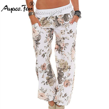 Women Floral Trousers Long Pants Baggy Leggings 2019 New Spring Summer Fashion L