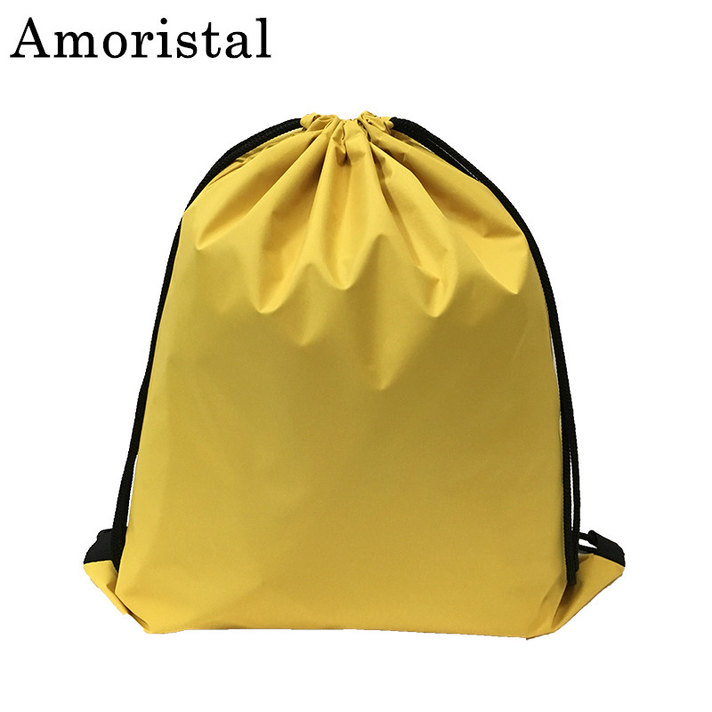 Portable Unisex Drawstring Bag Oxford Women String Sack Beach Backpack Male Folding Waterproo Shopping Bag Men