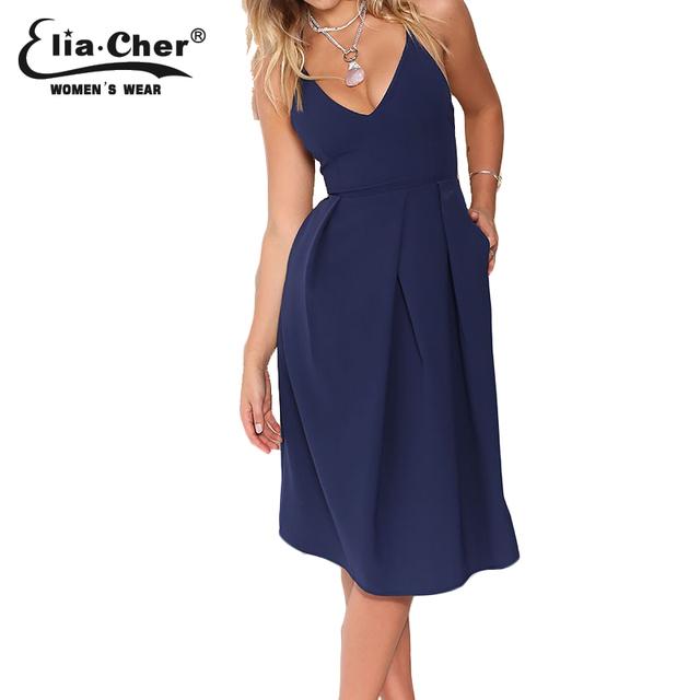 Vestidos eliacher marca women dress 2017 verão plus size roupas femininas casuais festa à noite vestidos midi vestidos 6625