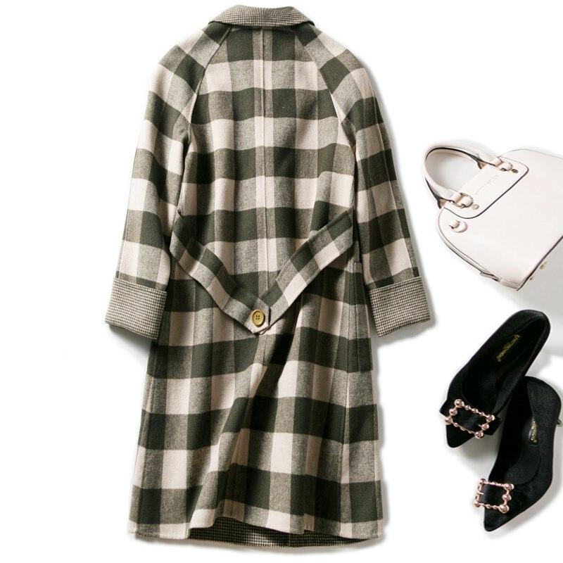 D'hiver Cardigan Double Revers Tissu Cachemire Gray Manteau Chaud Cou Smpevrg Femmes Vestes Laine Vêtements 8nmN0w