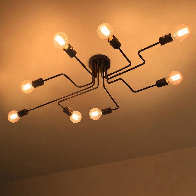 Luzes de teto modernas lâmpadas industriais luminaria teto e27 para sala estar quarto vintage lâmpada do teto luminárias casa
