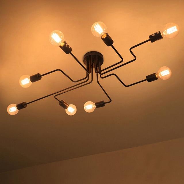 Moderne Eetkamer Plafondlampen Zwart E27 Luminaria De Teto Verlichtingsarmaturen Keuken Slaapkamer Industriële Vintage Living Lamp