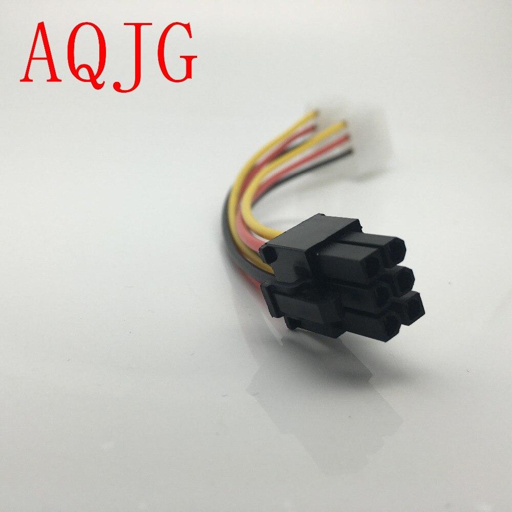 High Quality 2 x Molex To PCI-E Power Adapter 4Pin 4 Pin 6 Pin 6Pin Graphics Video Card Converter Cable 1pcs 1 pcs wholesale