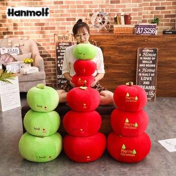 3 rodzaje czerwone jabłko zabawka wesołych świąt bożego narodzenia wigilia przytul mnie zielone/czerwone owoce miękkie jabłko poduszki wakacje dekoracyjne dzieci prezent 4 rozmiary