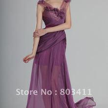 Сексуальное Великолепное вечернее платье на бретельках с v-образным вырезом, вечернее платье