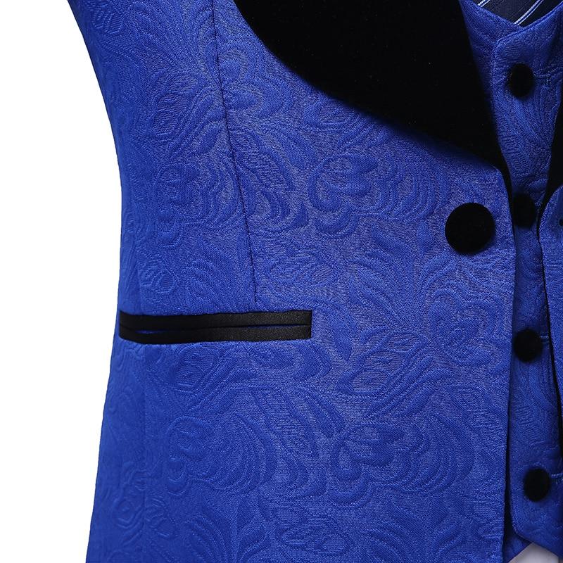 Royal Mode veste as Costumes Smoking Business Marié Ajustée Blazer Bleu Pantalon Coupe Mariage Noir 2018 Model L'époux Hommes As Model pPxqwp8F