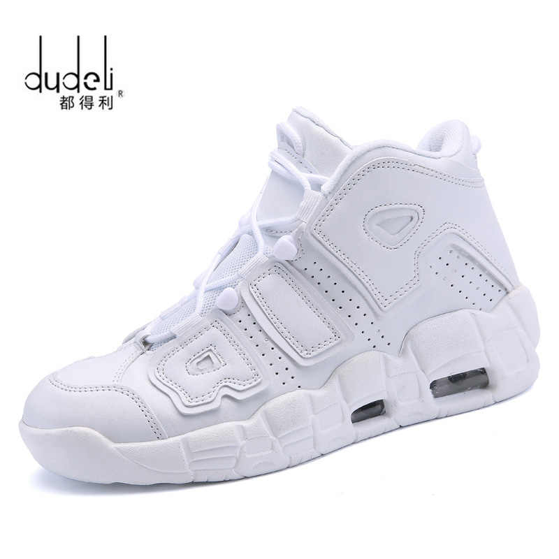 DUDELI Brand Basketball Shoes Men High-top Sports Air Cushion Jordan Hombre Athletic Mens Shoes Comfortable Breathable Sneakers