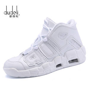 9b757537010 DUDELI Basketball Shoes Men High-top Sports Air Cushion Comfortable  Breathable