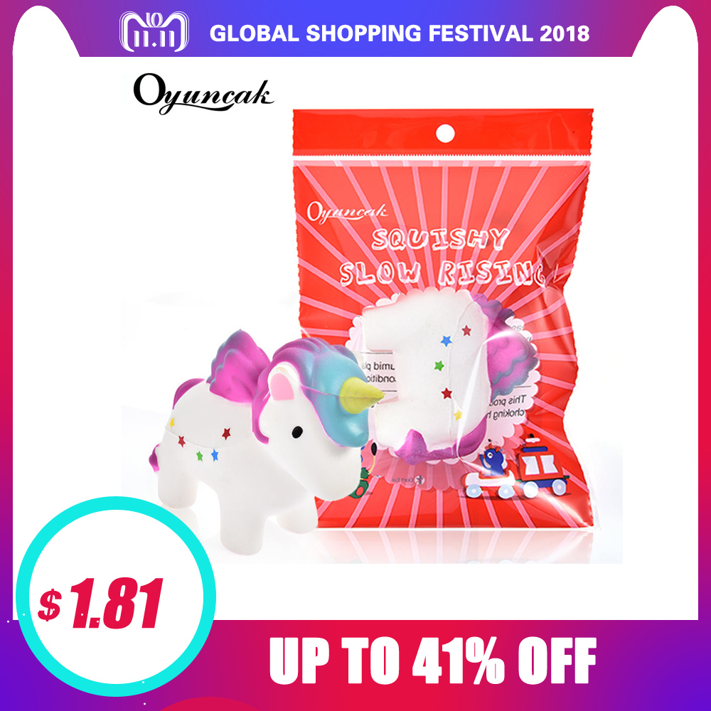 Oyuncak Squishy Novelty Unicorn Horse Jumbo Squishy Stress Relief Toys Anti-stress Gag For Girls Fun Gadget As Gift For Child oyuncak squishy unicorn novelty gag toys surprise antistress fun squeeze unicorn squish kawaii anti stress jumbo funny gadgets