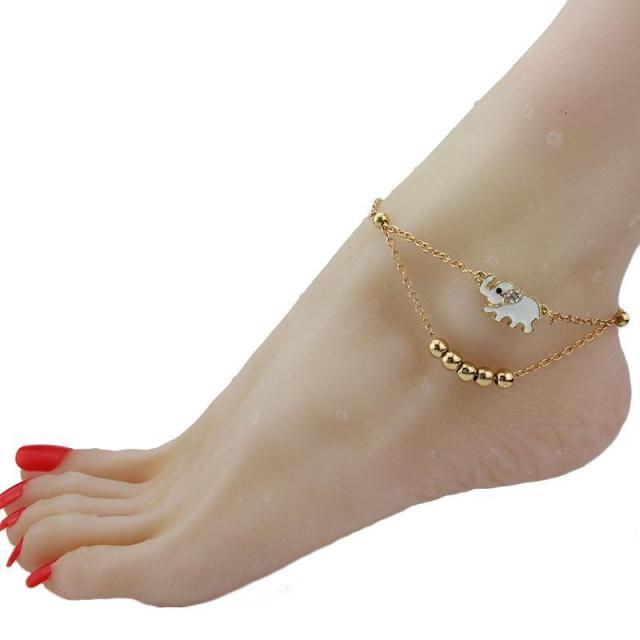 gbbeihcagec tai real hong smooth fook chow kong item counter anklet genuine gold ball round