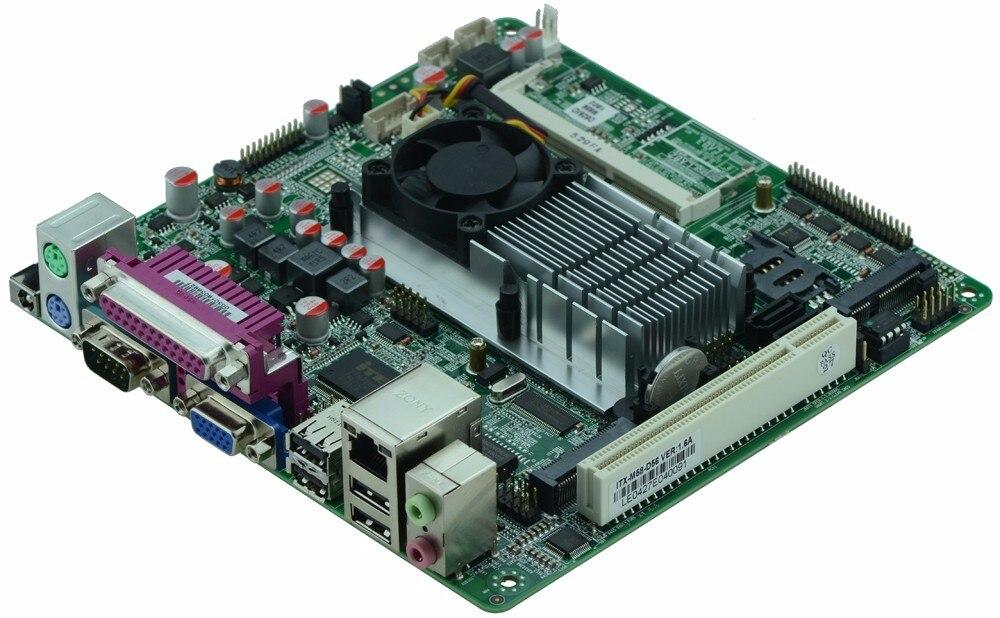 Atom D525 ITX-Motherboard Single 18bit LVDS POS Machine Industrial Motherboard MINI ITX Motherboard  Support  With 8*USB/6*COM
