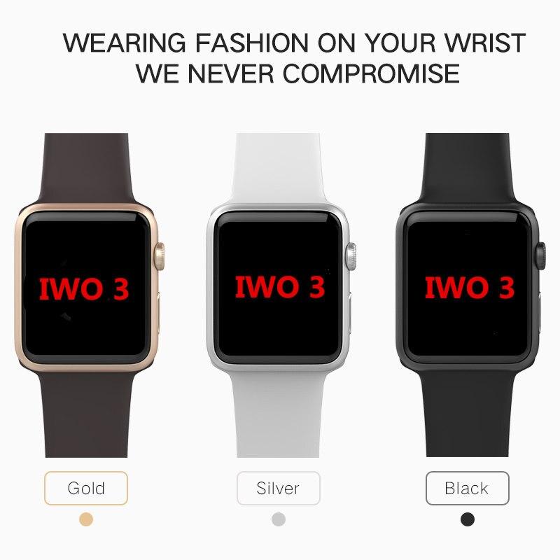 imágenes para IWO 1:1 IWO 3 mtk2502c Nuevo Bluetooth Reloj inteligente de gran capacidad impermeable Relojes Inteligentes para iPhone IOS y Android Smartphones