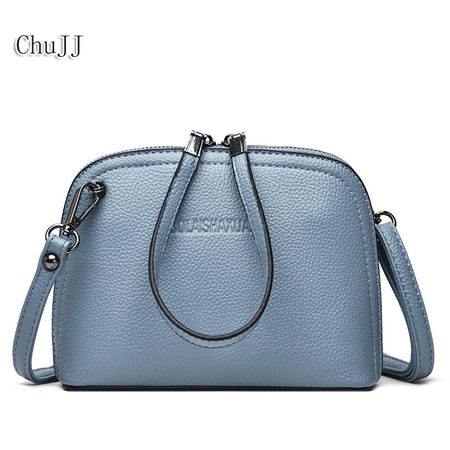 Hot Sale Summer Women s Genuine Leather Handbags Small Shoulder CrossBody  Bags Lady Shell Bags Women Messenger d50d90327