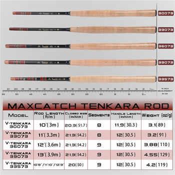 Maximumcatch Maxcatch Telescoping Tenkara Fly Fishing Rod Combo Kit 9-13FT Fishing Pole & Line & Flies & Tippet