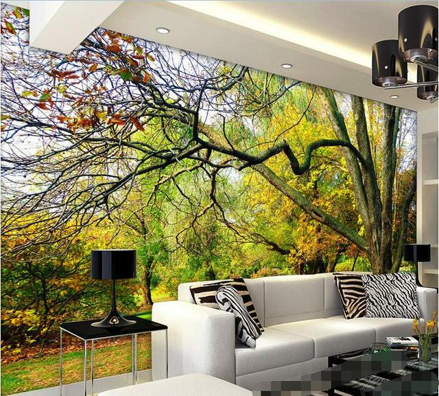 3d room wallpaper custom non woven wall sticker 3d the trees