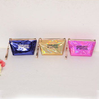 eTya Fashion Waterproof Laser Cosmetic Bags Women Neceser Make Up Bag PVC Pouch Wash Toiletry Bag Travel Organizer Case