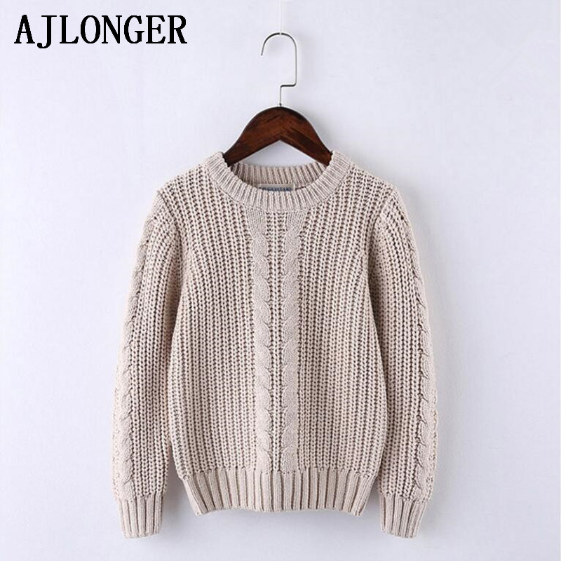 AJLONGER Boys Solid Sweater Kids Boy Sweaters Soft Warm Autumn Winter Children 39 s Sweater Coats in Sweaters from Mother amp Kids