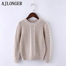 AJLONGER Boys Solid Sweater Kids Boy Sweaters Soft Warm Autumn Winter Childrens Coats