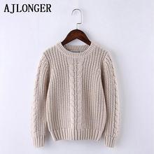 Однотонный свитер ajlonger для мальчиков детские свитера мягкий