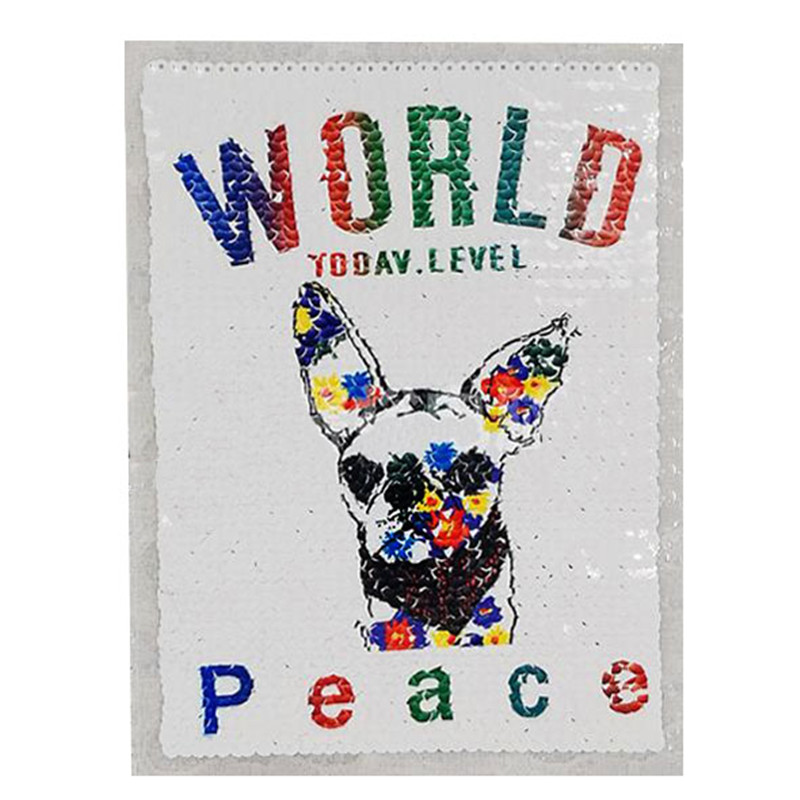 23cm dog diy animal patch deal with it clothes iron on patches for clothing t shirt sequins stickers halloween christmas gifts