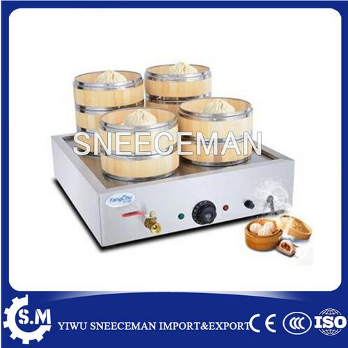 chinese commercial electric bamboo bun steamer in food processors