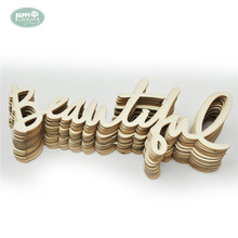 Hobby Craft Wood Letters 24pcs/lot Beauty Life DIY Crafts Natural Vintage Veneer Scrapbooking Simple Home Decorations