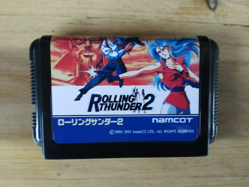 MD Game : ROLLING THUNDER 2 ( Japan Version!! )