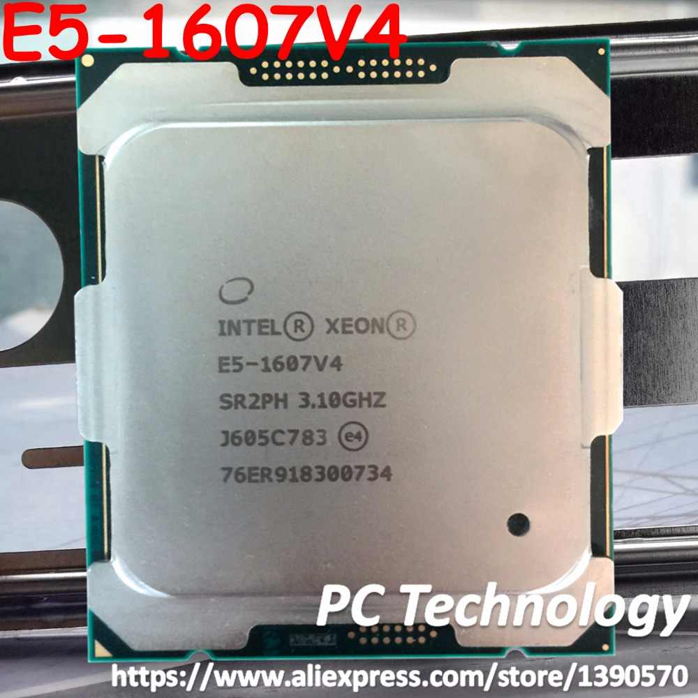 Original Intel Xeon E5-1607V4 OEM Version 3.10GHZ 4-Core 10M E5 1607V4 E5 V4 LGA2011-3 140W free shipping E5-1607 V4