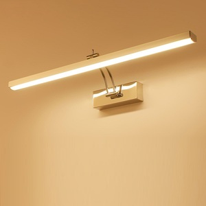 Image 1 - LED ミラーライト 40 50 センチメートル防水現代の美容壁ランプステンレス浴室燭台ランプキャビネット照明デコレーションライト