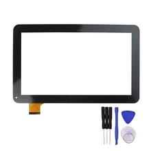 Novo 10.1 polegada Tela Sensível Ao Toque para T12 T12D T12V 3G Tablet Digitador Substituição do Sensor de Ostras YCF0464-A Preto/Branco