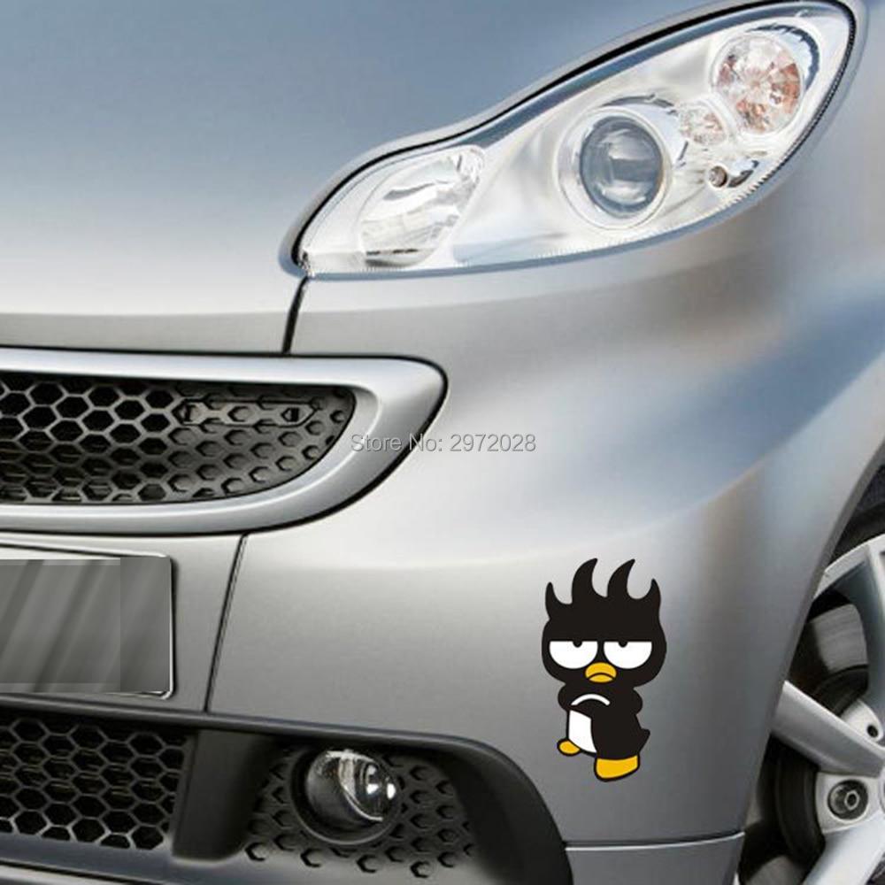 Creative voiture style mascotte animale xo badtz maru pingouin decration decal pour peugeot mazda vw renault chevrolet opel kia ford dans autocollants de