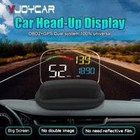 2019 New HD OBD2 Car HUD On board Computer C800 2 in 1 GPS OBD Speed Projector Digital Speedometer HeadUp Display Security Alarm