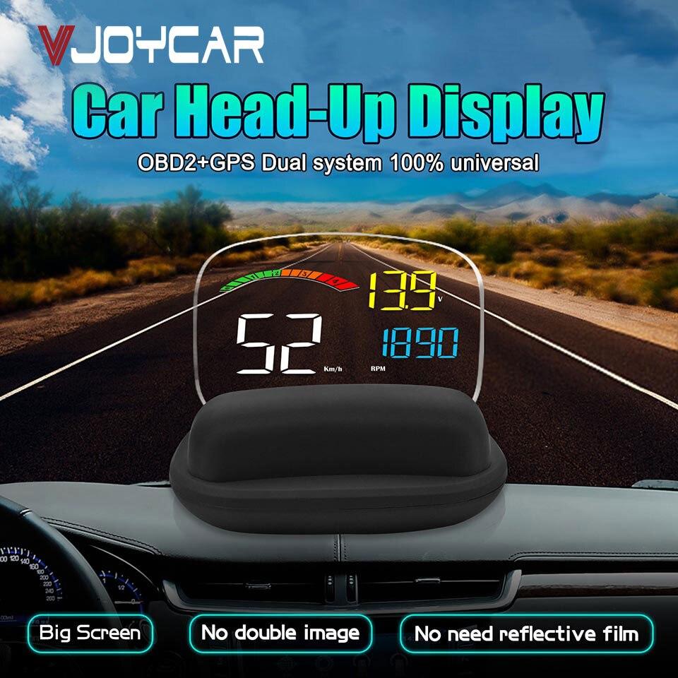2019 Novo HD OBD2 HUD On-board Do Carro Computador C800 2 em 1 GPS OBD Velocidade Projetor Velocímetro Digital headUp Exibição de Alarme De Segurança